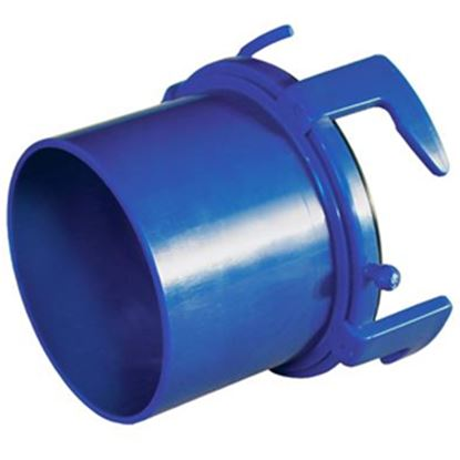 Picture of Prest-o-Fit Blue Line (R) Blue Four Hook Bayonet Sewer Hose Connector 1-0004 11-0276