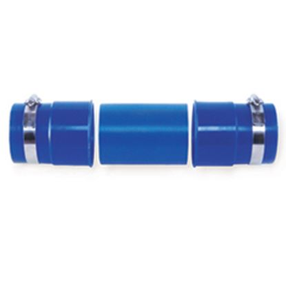 Picture of Prest-o-Fit Blue Line (R) Blue Sewer Hose Connector w/Clamps, Hose Coupler 1-0204 11-0279