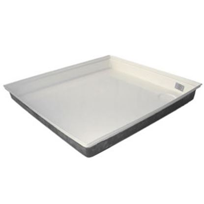 "Picture of ICON  Polar White 27""x24""x4"" Rectangular Shower Pan 00461 11-0564"