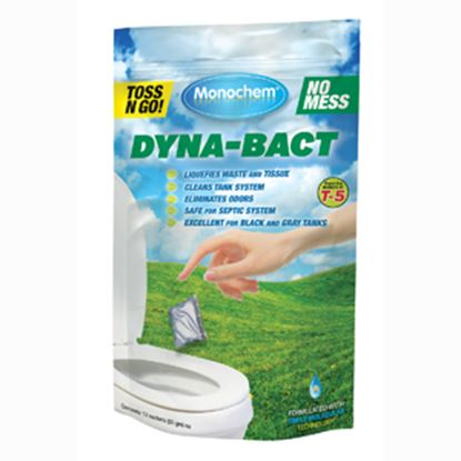 """Picture of Monochem  12-Pack Dyna""""Bact"""" Bio Toss-Ins Holding Tank Treatment 30807 13-0289"""