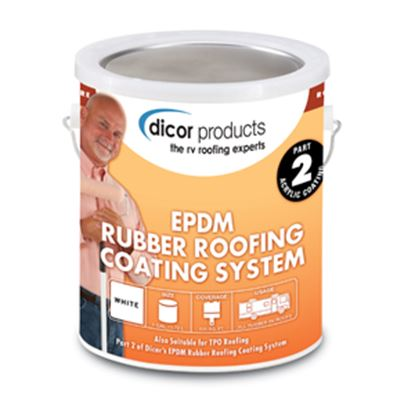 Picture of Dicor  1 Gal Can White Roof Coating For Rubber RV Roof RP-CRC-1 13-1286