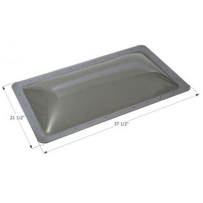 "Picture of Icon  4""H Bubble Dome Rectangle Clear PC Skylight w/37.5"" X 21.5""Flange 12214 13-1744"