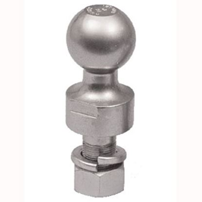 """Picture of Husky Towing  Chrome 1-7/8"""" Trailer Hitch Ball w/ 1"""" Diam Shank 33846 14-1053"""