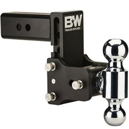 "Picture of B&W Hitches Tow & Stow (TM) Class V 2-1/2"" 14.5K 5.2"" Drop x 5.7"" Lift Double Ball Mount TS20037B 14-1721"