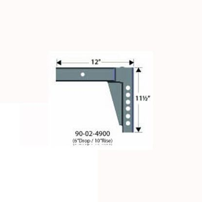 "Picture of Equal-i-zer  12""L x 10"" Rise x 6"" Drop Weight Distribution Hitch Shank 90-02-4900 14-3022"