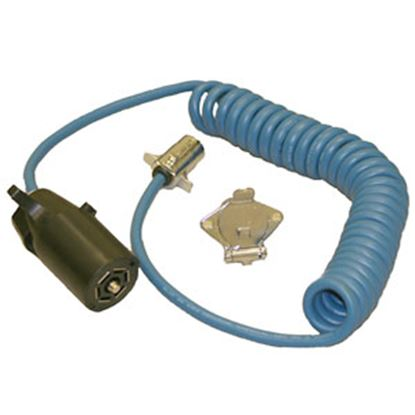 Picture of Blue Ox  7 -Blade To 4-Round Trailer Wiring Connector Adapter w/Wire BX88254 14-5256