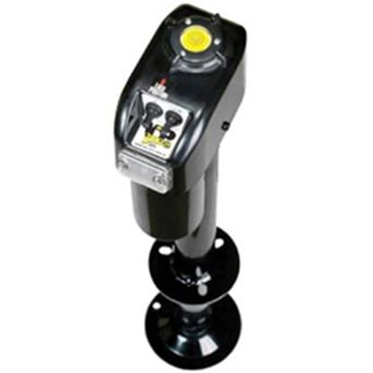 Picture of Barker VIP 3000 Power Black 3000 Lb A-Frame Electric Tongue Trailer Jack 32453 15-0113