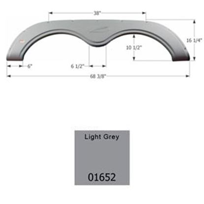 Picture of Icon  Light Grey Tandem Axle Fender Skirt For R-Vision Brands 01652 15-0523