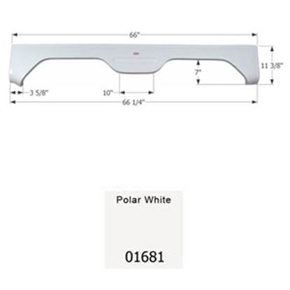 Picture of Icon  Polar White Tandem Axle Fender Skirt For Gulfstream Brands 01681 15-0529