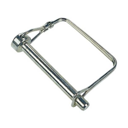"""Picture of JR Products  1/4"""" x 1-3/8"""" Steel Safety Lock Pin 01094 15-0736"""