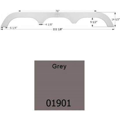 Picture of Icon  Gray Triple Axle Fender Skirt For Fleetwood Brands 01901 15-1658