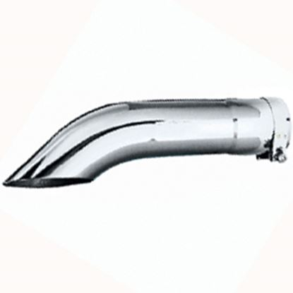 "Picture of Leisure Time  4""Dia Outlet X 12""L Polished Exhaust Side Pipe Turnout 40012 15-1758"
