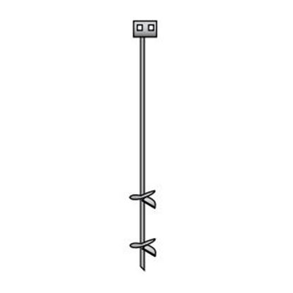 """Picture of Tie Down Engineering  Black Painted 4"""" Double Helix Iron Root Double Head Ground Anchor 59095 16-0026"""