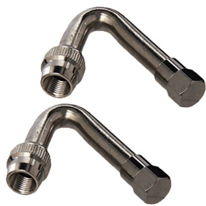 Picture of Dicor Air-Gard (TM) Set-2 125 Deg Nickel Plated Brass Valve Stem Extension AG-125C 17-1032