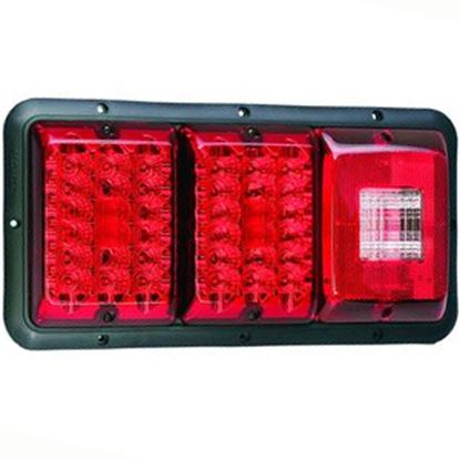 "Picture of Bargman 84 Series Red 14-1/16""x6-15/16""x1-1/4"" LED Stop/ Tail/ Turn Light 48-84-009 18-0143"