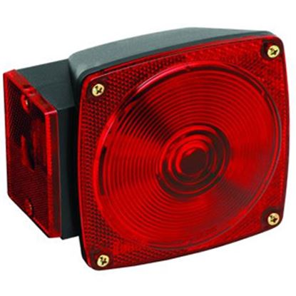 "Picture of Bargman  Red 5-1/4""x4.66""x3.76"" Tail Light 2523023 18-0279"