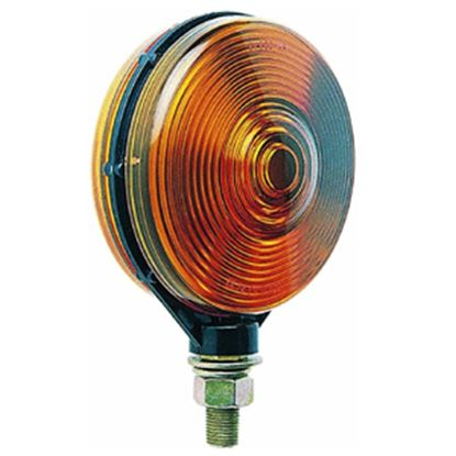 "Picture of Peterson Mfg.  Amber Double-Face Stop/Tail/Turn Light w/ 1/2"" Stud Mount V313AA 18-0512"