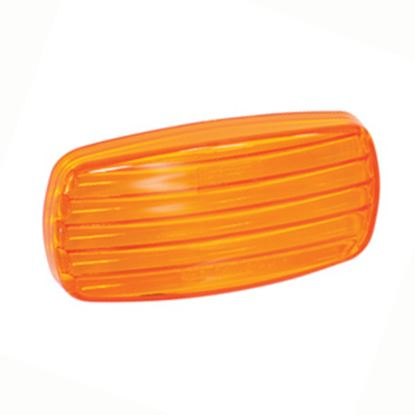 Picture of Bargman  Amber Snap-On Side Marker Light Lens For Bargman 58 Series 34-58-012 18-0583