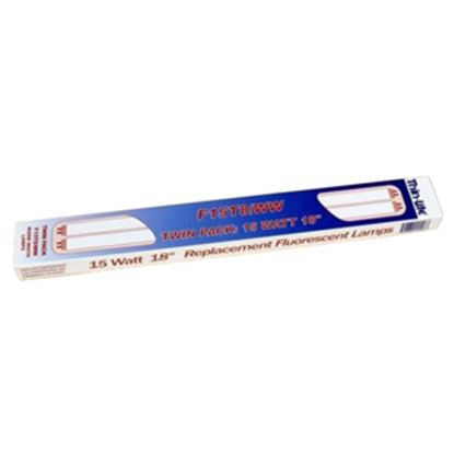 "Picture of Thin-Lite  Flourescent Bulb, 18"" L, 15W, Warm White, 2/box F15T8/WW/TWIN 18-0770"