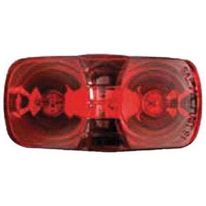 "Picture of Optronics  Red 4.094""L x 2.125""W x 1.125""D Side Marker Light MC42RS 18-1009"