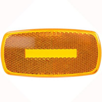 Picture of Optronics  Amber Reflex/ Clearance/ Side Marker Light Lens A32ABP 18-1204