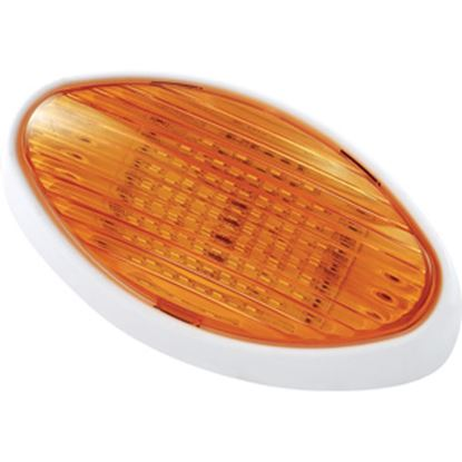 Picture of Green LongLife  Clear w/Amber Lens Oval LED Porch Light 9090117 18-1393