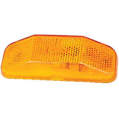 "Picture of Optronics  Amber 4"" L x 1.5"" W x 0.938"" D Side Marker Light MC44ABP 18-1497"