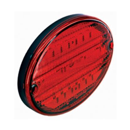 """Picture of Diamond Group  Red 8-3/8""""x5-5/8""""x7/8"""" 52-LED Stop/ Turn Light DG52448PB 18-2228"""