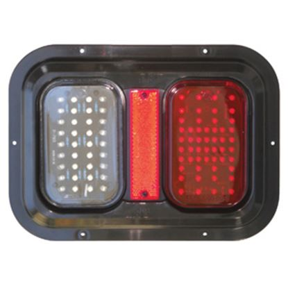 """Picture of Diamond Group  Amber/Red 11""""x8""""x1-1/4"""" 104 LED Stop/ Turn/ Tail Light DG52721PB 18-2290"""