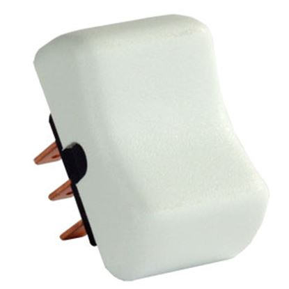 Picture of JR Products  White 125-250V/ 8A SPDT Rocker Switch 12055 19-0177