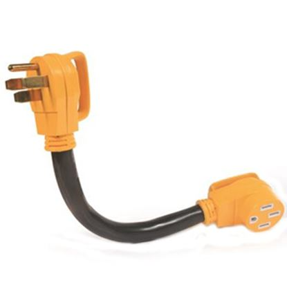 "Picture of Camco Power Grip (TM) 18"" 50A Extension Cord w/Plug Head Handle 55215 19-0487"