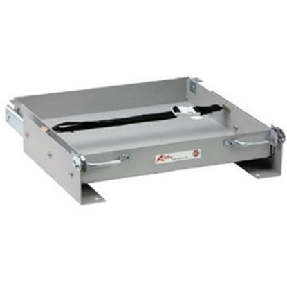 "Picture of Kwikee  15-1/8""L x 15-1/2""W x 2-3/4""H Steel Battery Tray for 1-8 Batteries 366486 19-0725"
