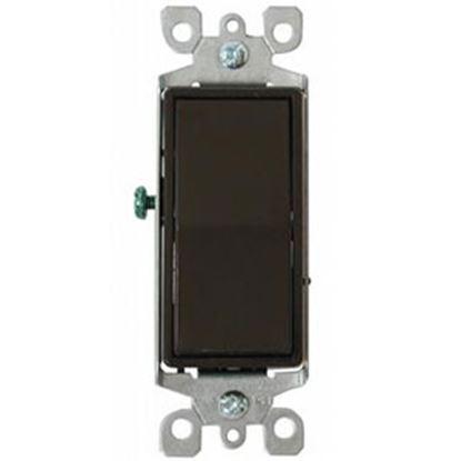 Picture of Diamond Group  Brown 120-277V/ 15A Single Pole Rocker Switch DGSC18VP 19-1390