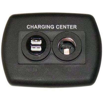 Picture of Diamond Group  Black 12V USB Power Port Socket w/Wall Plate DG61023VP 19-2691