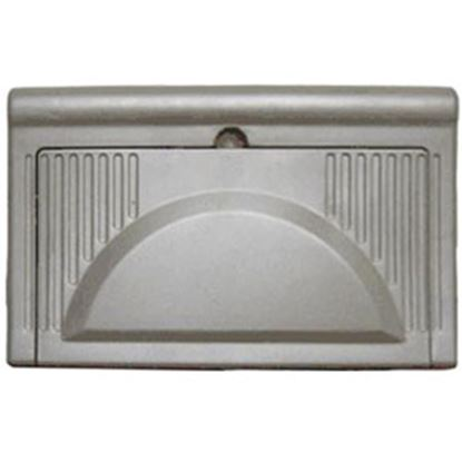 Picture of WFCO  Black Plastic Rectangular Flip Down Power Converter Door WF-8725-PB-DA 19-2868