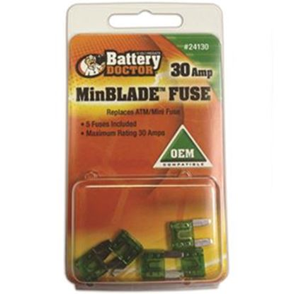Picture of Battery Doctor  15A ATM/ Mini Blue Blade Fuse 24115 19-3580