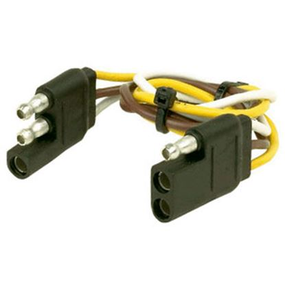 "Picture of Husky Towing  12"" 3-Flat Trailer Wiring Extension Cord/Loop, Pkg 30268 19-3839"