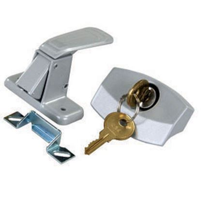 Picture of JR Products  Painted Silver Die Cast Steel Entry Door Latch 10805 20-0232