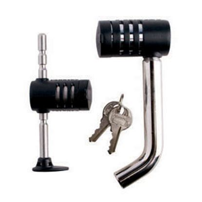 "Picture of Master Lock  1/2"" & 5/8""D x 9/16""-2-3/4""L Trailer Hitch Pin w/Keyed Lock 2848DAT 20-0396"
