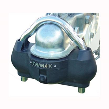 """Picture of Trimax Locks  2-5/16"""" Steel Hitch Ball & Clamp Trailer Coupler Lock UMAX100 20-0462"""