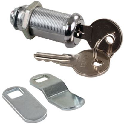 "Picture of JR Products  1-3/8"" Standard Key Baggage Door Lock 00335 20-1218"