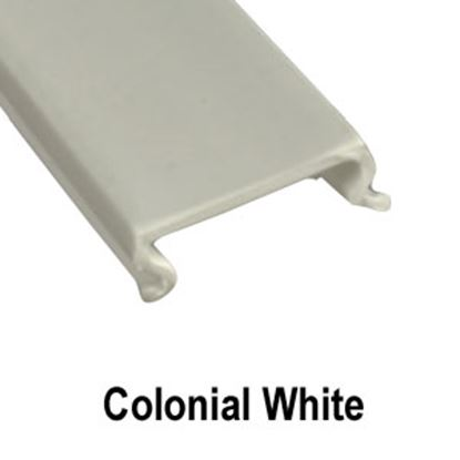 """Picture of AP Products  5-Pack Colonial White Plastic 5/8""""W X 8'L Trim Molding Insert 011-358-5 20-1548"""