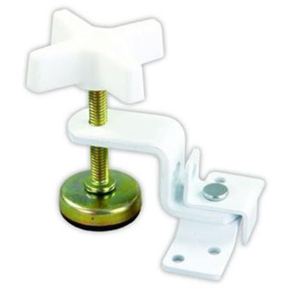 "Picture of JR Products  3.15"" Spacing White Fold-Out Bunk Clamp 20775 20-1955"