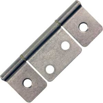 "Picture of JR Products  2-Pack Chrome 3-1/2"" Non-Mortise Hinge 70635 20-1980"