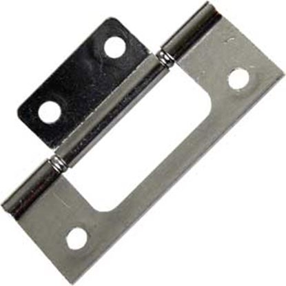"Picture of JR Products  2-Pack Chrome 3"" Non-Mortise Hinge 70645 20-1981"