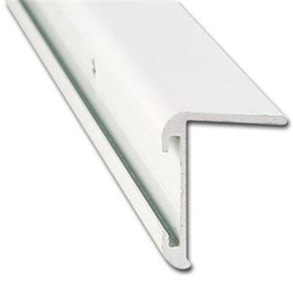 "Picture of AP Products  31/32""W x 16'L x 1-1/4""H Polar White Aluminum Long Leg Insert Corner Trim 021-85201-16 20-6980"