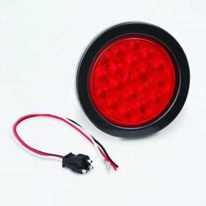 "Picture of Bargman  Red 4"" Round LED Stop/ Tail/ Turn Light 47-01-031 20-7094"