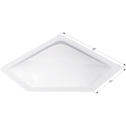 "Picture of Icon  4""H Bubble Dome Neo Angle White PC Skylight w/15"" X 28"" Flange 01867 22-0028"
