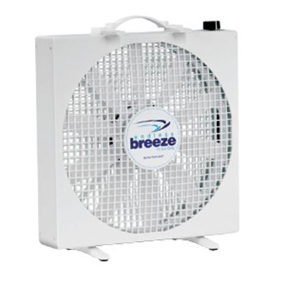 """Picture of Fan-Tastic Vent Endless Breeze White 14"""" 12V 3-Speed Non-Oscillating Free Standing Fan 01100WH 22-0102"""