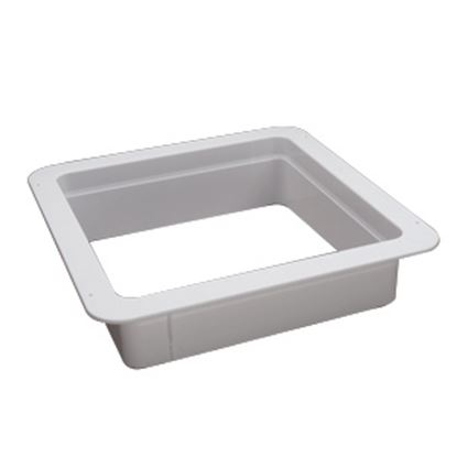 "Picture of Heng's  White 2-1/8"" Deep for 14""x14"" Opening Radius Roof Vent Garnish 90091B 22-0164"